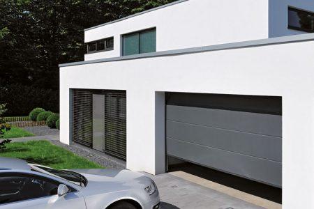 Energi garageport - ledhejseport med 67 mm superisolering